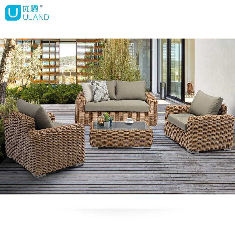 Chairs Set Outdoor Patio Uland Patio Aluminum Garden Wicker Sofa Chair Set Furniture Rattan Outdoor Furniture