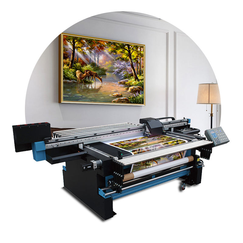 Grootformaat printer fabrikant led uv hybrid roll printer