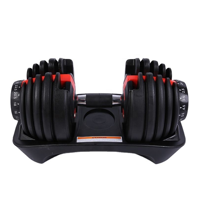 Eco-friendly Anti-slip High density exercise hex 50kg crome barbel and dumbel set 24kg/52lbs adjustable dumbells 90lbs