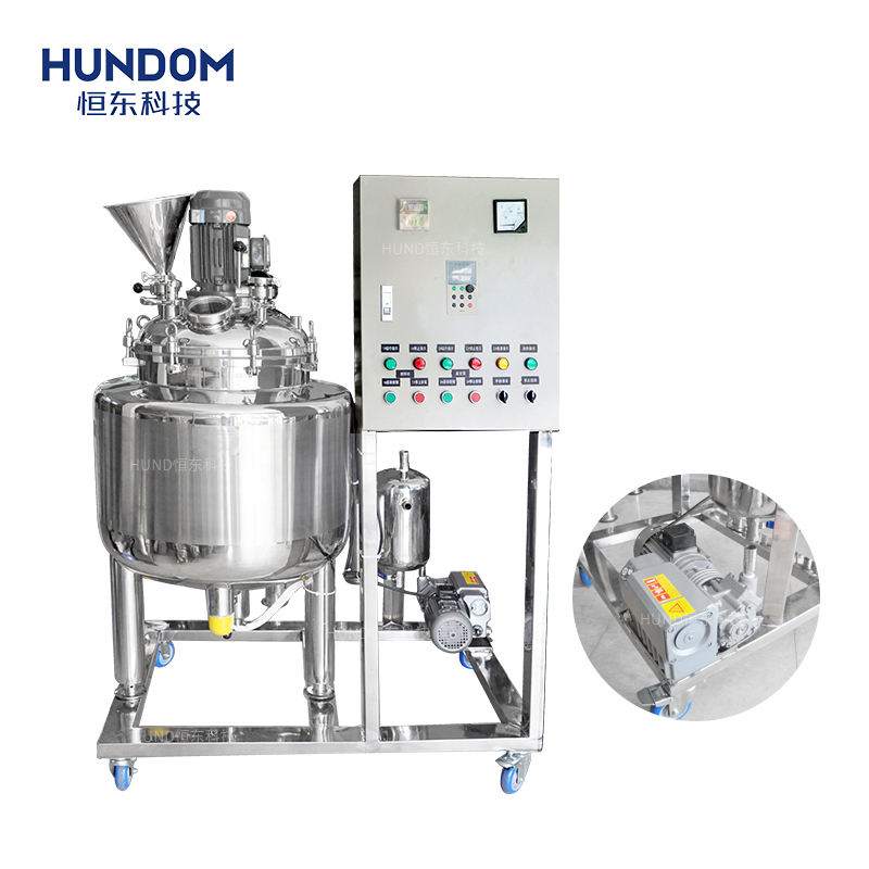 Vacuum mixer homogenizer paste mixing tank, body lotion and cream making machines