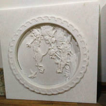Carved Natural Stone Relief Modern Style Wall Relief Sculpture