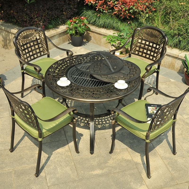 Garden Set Specific Use and No Folded Cast Aluminum Furniture