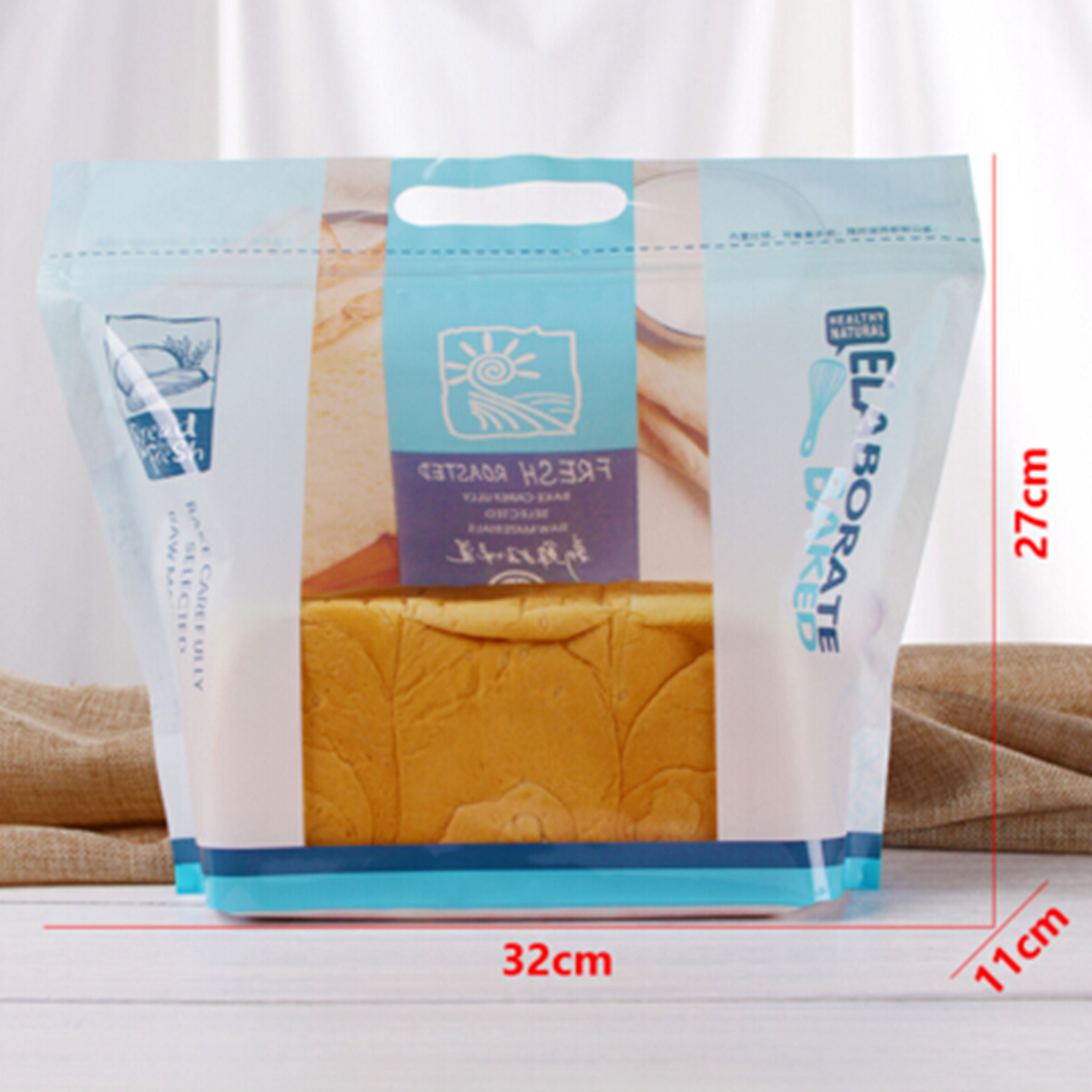 Resealable Ziplock Doypack Stand Up Pouch Clear Transparent Plastic Packaging Bag With Zipper