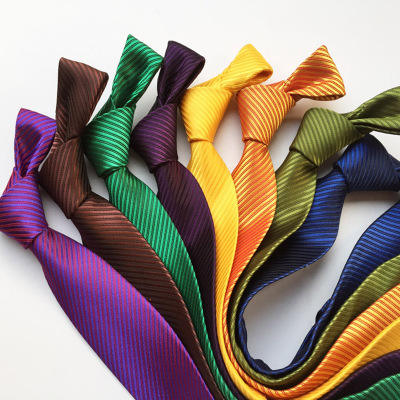 Business tie solid color high density polyester silk men's tie