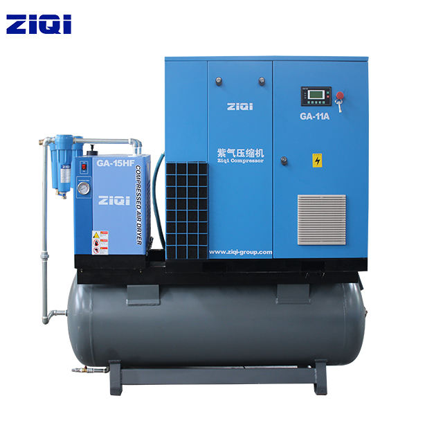 Food Beverage Factory [ Air Compressors 500l Tank ] Air-compressors Compacted 42cfm Screw Air Compressors Machines With 500L Tank