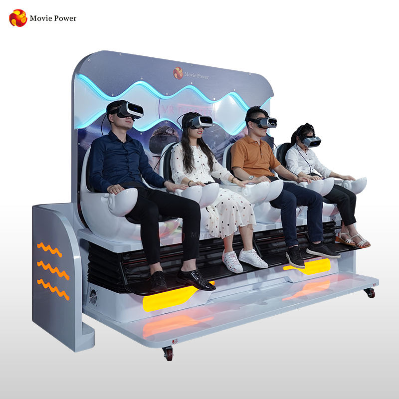 2020 Earn Money Roller coaster movie educational movies VR 4 seats theater Cinema for kids and adults