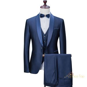 Aphacatop 2020 Mode Een Knop Mannen Wedding Suits Tuxedo Custom