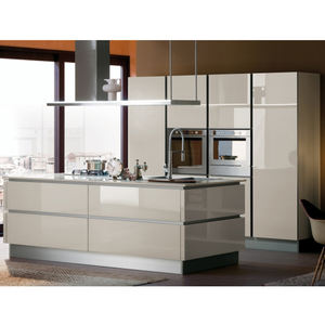 Customized project high gloss lacquer or PVC kitchen simple design modern kitchen cabinet