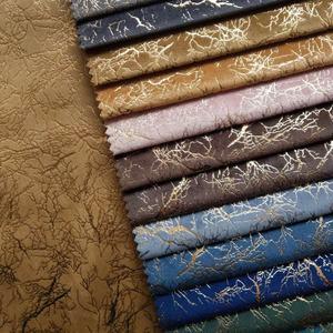 Sofá de tapicería textil champán Crushed Velvet muebles de calidad de 145CM de ancho