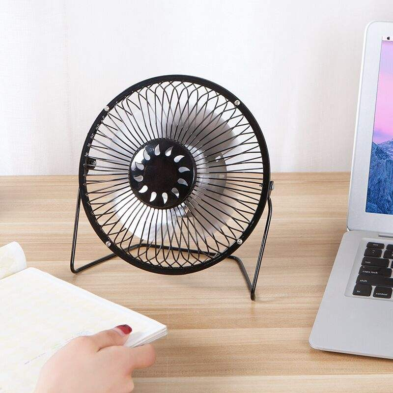 6 Inch 360 Degree Rotation Portable Office Table Personal Mini USB Fans with 1M USB Cable for Home Office in Hot Summer Days