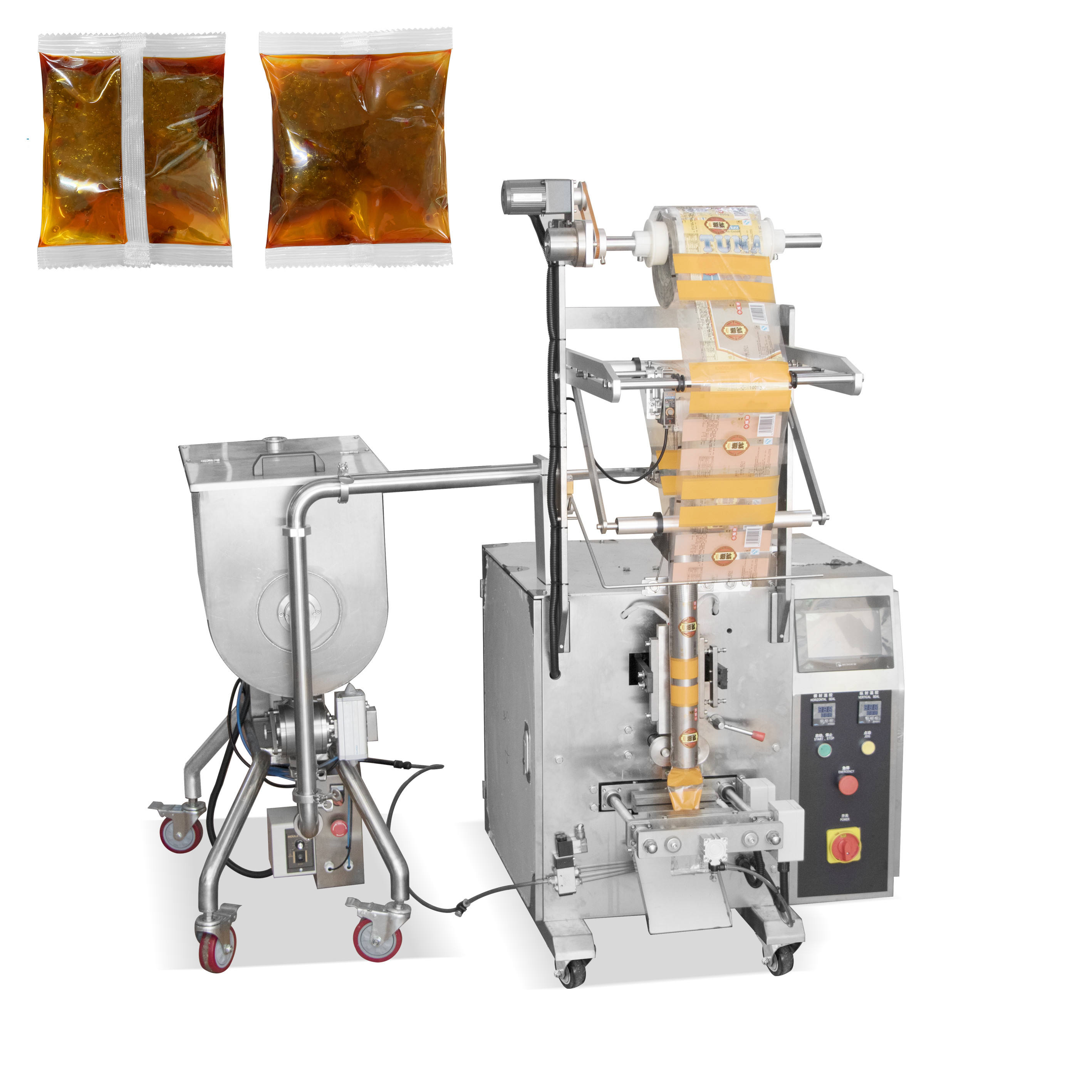Factory sale sauce bag packaging machinery tomato paste filling and sealing packing machine