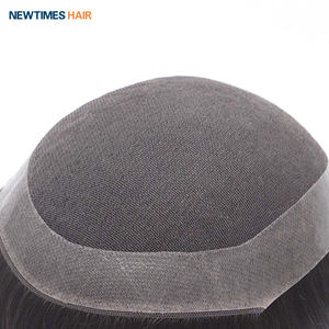 D7-5 newtimes hair durable french lace pu around medium density human hair toupee men hairpiece