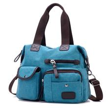 Hot Sell  Casual Satchel  Bags Women Canvas Tote Bag Shopping Handbag