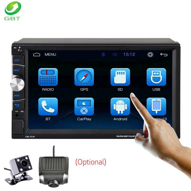 GBT Universal 7 inch 2DIN user manual car mp5 player multimedia USB AUX SD Bluetooth mirrorlink gps car navigation