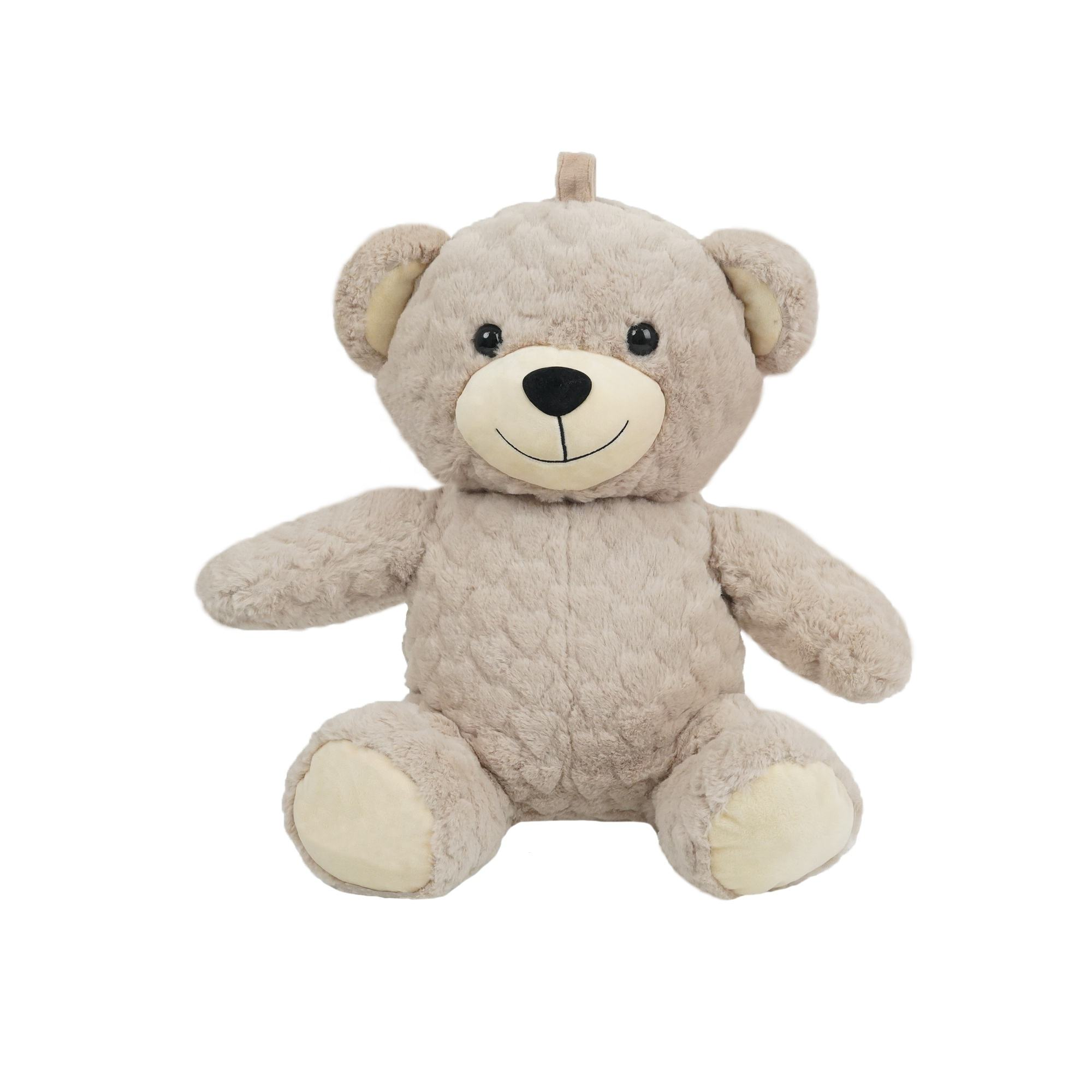 Good quality wholesale fashion doll soft plush toy custom giant teddy bear with hand warmer