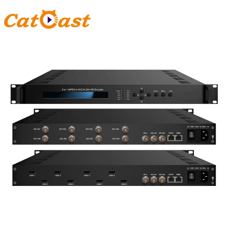 8 IN1 HDMI SDI ASI Multiplexing ASI IP Encoder MPEG4 H.264 HD <span class=keywords><strong>Video</strong></span> Encoder
