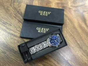 OLEVS Brand Black Gift Box OLEVS gift box for watch Customs gift box for quartz watch and mechanical watch