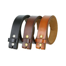 "Genuine Leather Belt Strap Casual Belt 1-1/2"" Wide - Black Brown Tan"