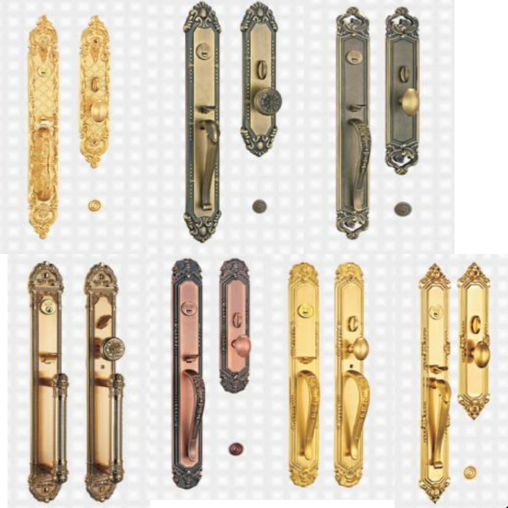 hot sale USA standard ANSI grade mortise door handle set lock cerraduras de seguridad brass door lock handle set
