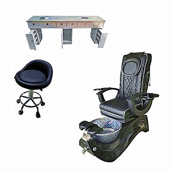 Modern Black pink dwg portable foot spa silla luxurious No Plumbing massaging manicure Salon reclining spa Pedicure chair