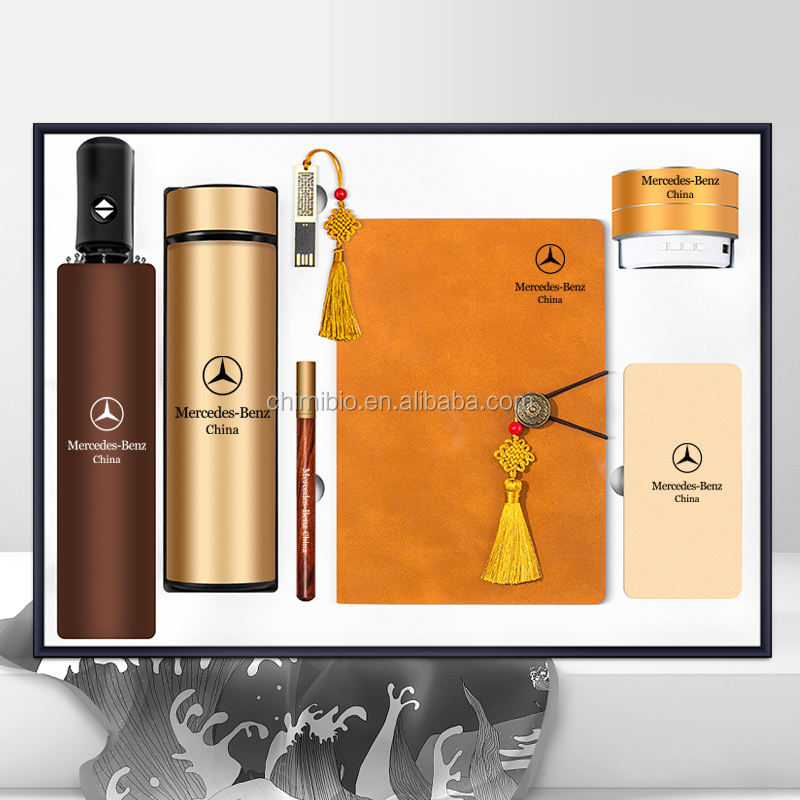 Retro Chinese knot business gift set a5 leather notebook executive gift