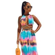 2019 Ladies Explosive Bohemian Wind Printing Two piece Set women sexy summer dresses