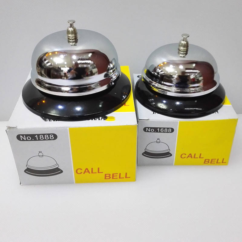 Call Bells,3.38 Inch Diameter,Stainless Steel,All-Metal Construction,Service Bell for Hotel,School,Restaurant,Warehouse,Silver
