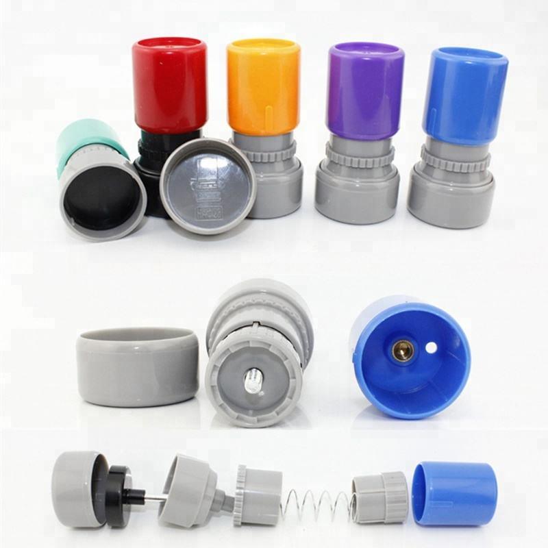 مجموعة كاملة صغيرة من البلاستيك ختم المواد لوازم خاتم ضوئي وسادة رغوة وحامل