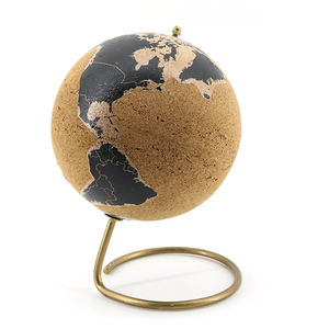 custom black gold metal map elegant noble cork stress ball globe toy for kids