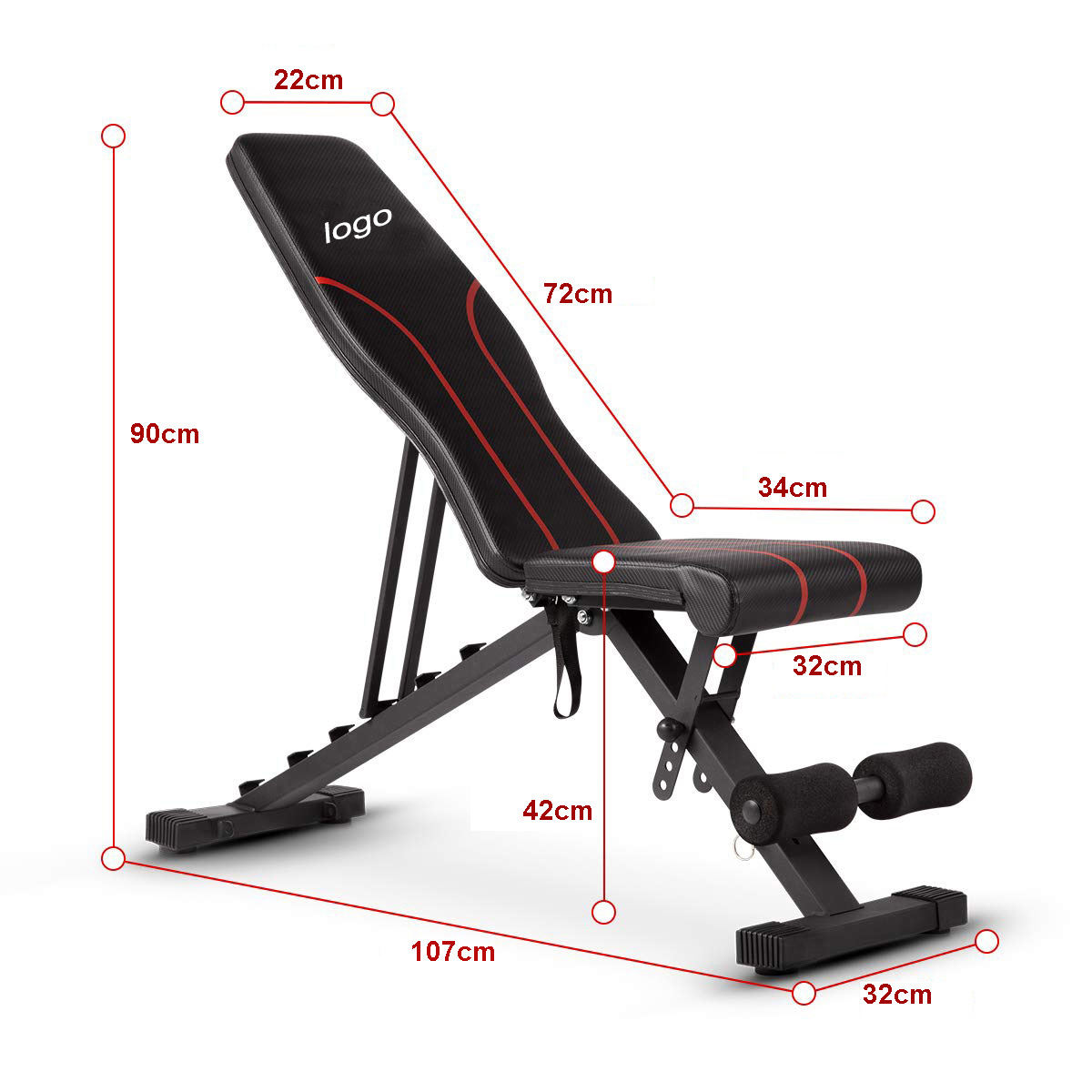 Lifting multi wholesale training gym foldable fitness adjustable weight bench
