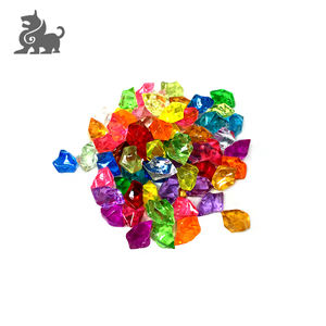 Wholesale shiny irregular plastic gem for games