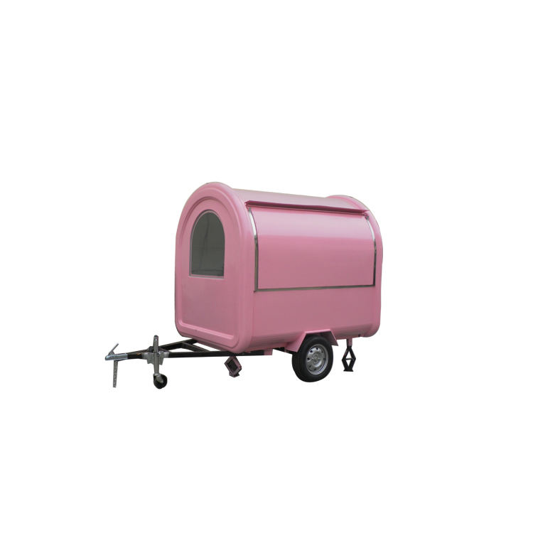 2018 New Design scooter crepe bicycle food cart trailer with porch commercial hot dog cart