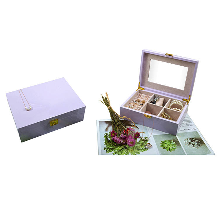 Piano Wood Box Jewelry Organizer Storage Case Portable Packaging Jewelry Box For Earring