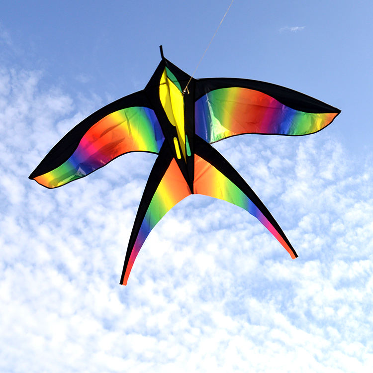 New best selling rainbow color bird kite custom available easy flying