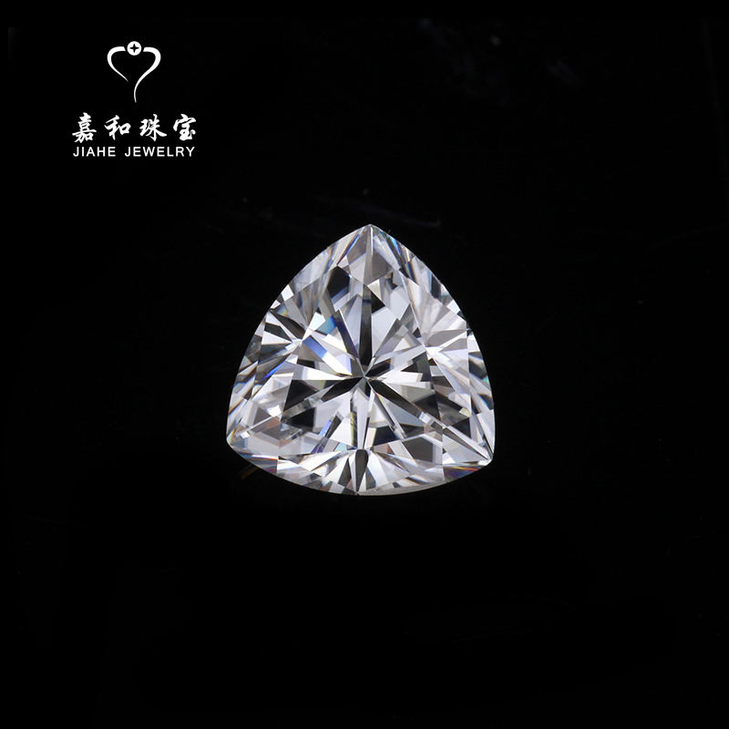 High quality cut white triangle moissanite stones moissanite jewellery diamond