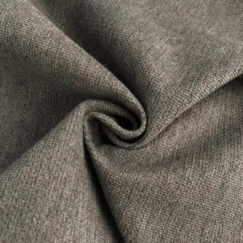 Simple imitation linen100%polyester broad-brush breathable latest sofa fabric
