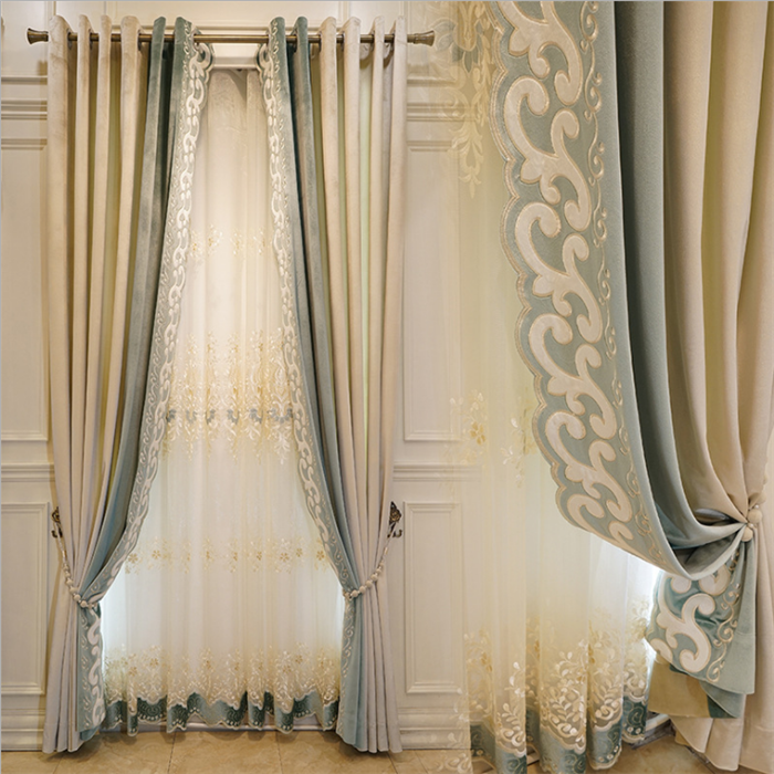 Is_customized [ Curtains Home ] Decorative Curtains Curtains Beautiful Elegent Luxury Living Room Jacquard Curtains For Home Decorative