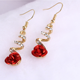 Eunice Fashion trendy simple temperament rose earrings Korean hot sale creative new earrings