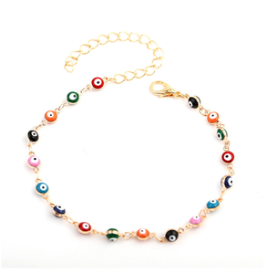XUNBEI Turkish Bohemian Colorful Beads Women Beach Gold Ankle Bracelet