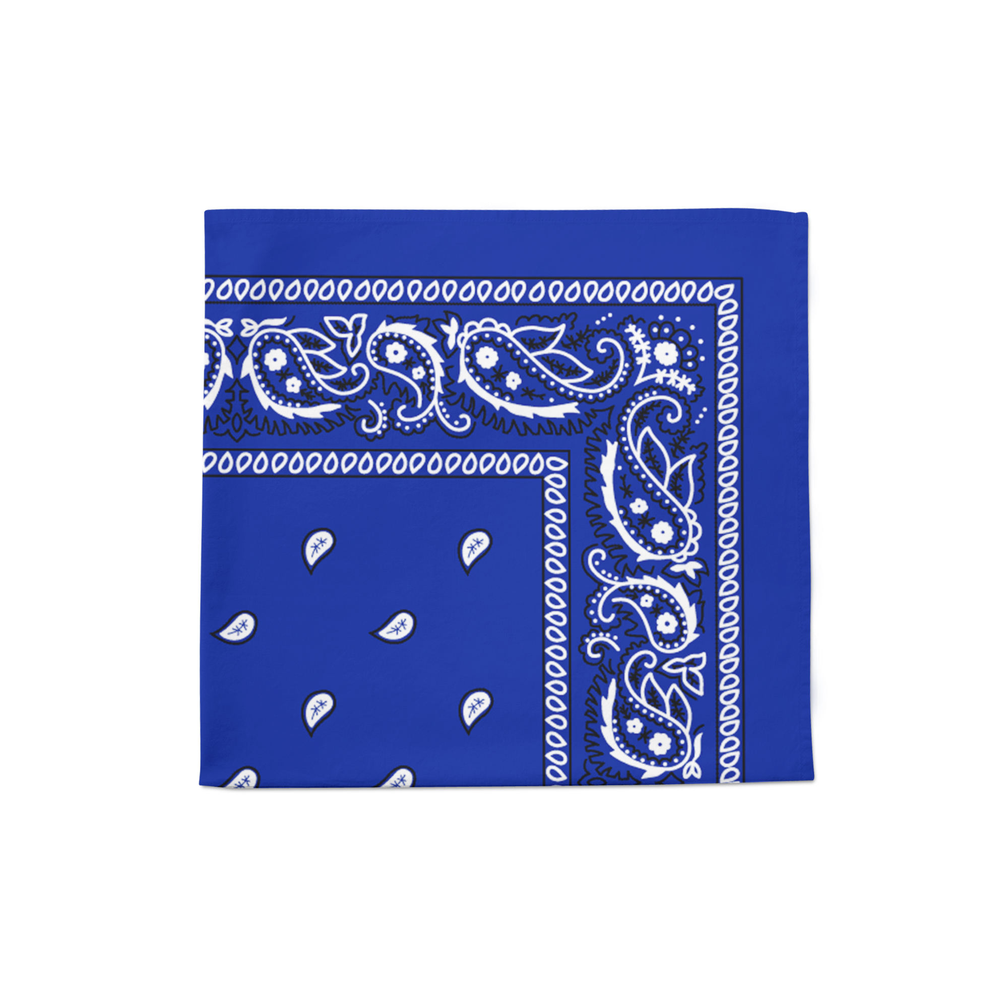 Paisley Polyester Bandana 22 inches Sold in Units Multi Uses Face Covering Napkins Handkerchief Scarf