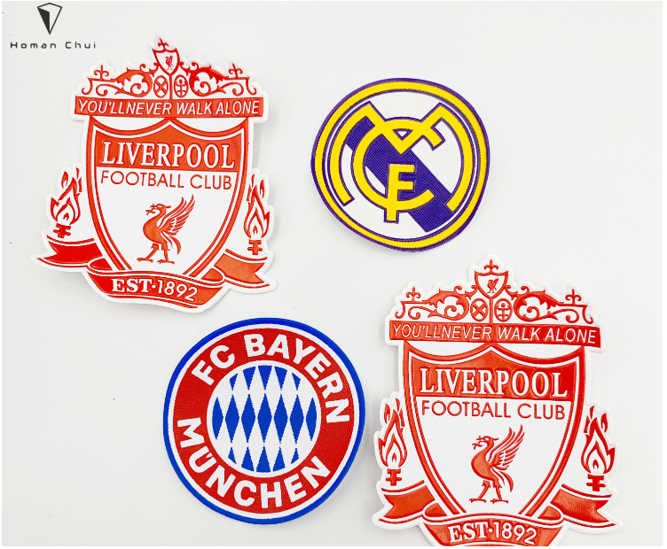 Factory price Football Team Patches for sports wear heat transfer patch pvc patch