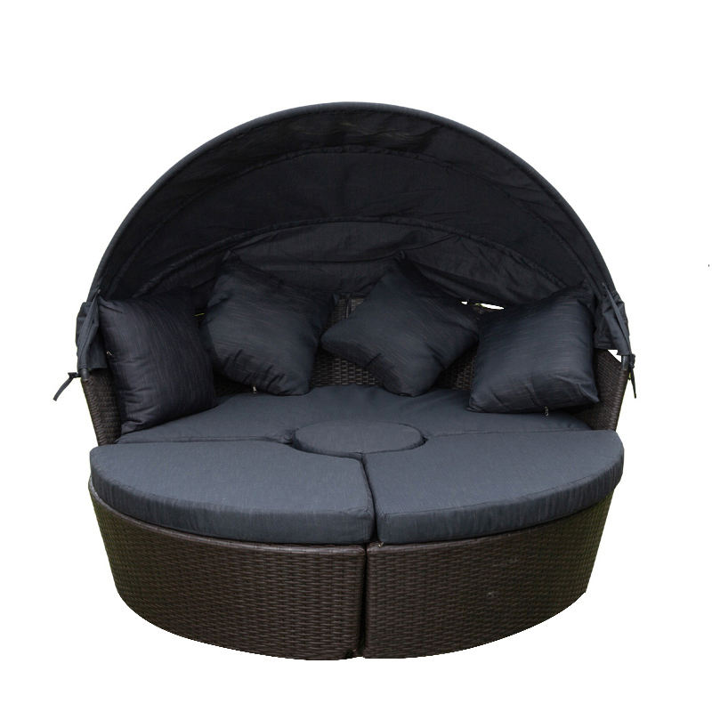 Sale Round Sofa Lounge Outdoor Rattan Furniture Waterproof Modern Round Sofa Bed Wicker Sofa