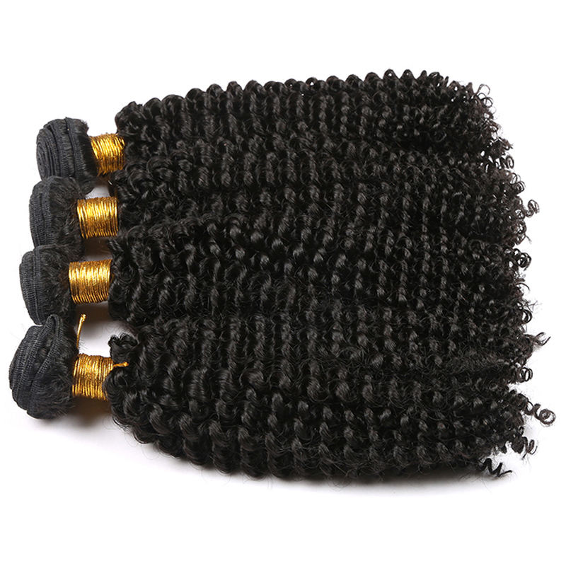 Factory supplier machine made hair weave virgin peruvian kinky curly hair, human kinky curly hair weave