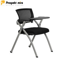 Company Training Four Supporting Legs Chair Midback Folding Writing Pad Chair