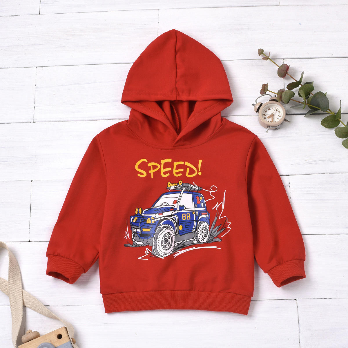 Baby Boys Casual Letter Cartoon Print Hoodie Sweat Shirt Cotton Sweater Boy Kids Hoodie