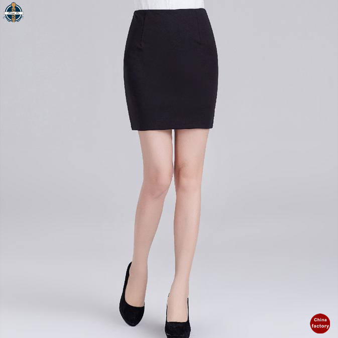 T-SK521 Manufacturer China Women Office Fitted Mini Skirts