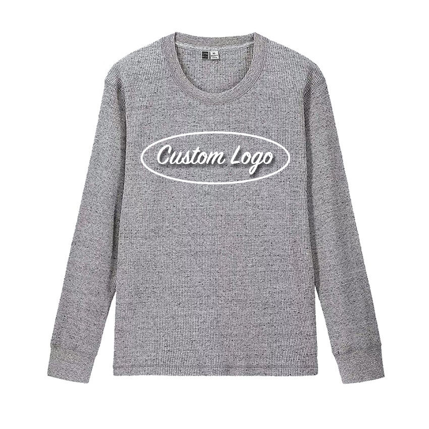 Hot sell Simple unisex waffle thermal t shirt with excellent quality