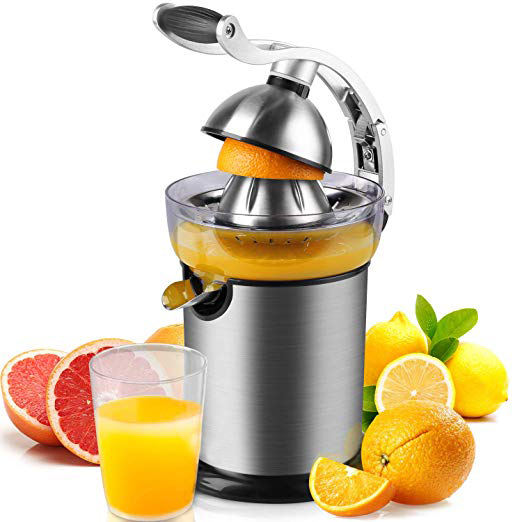 Hot Sale Electric Automatic Stainless steel Housing citrus juicer with anti-drop function