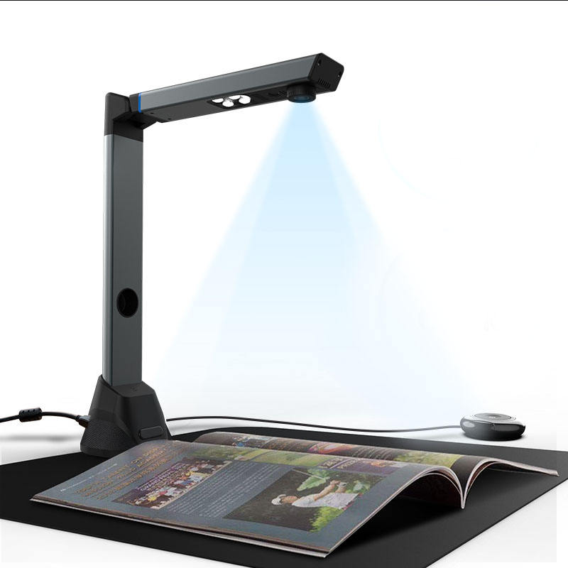 Portable 16 Mega-pixel High Definition Capture Size A3 Book Scanner Document Camera for File Recognition