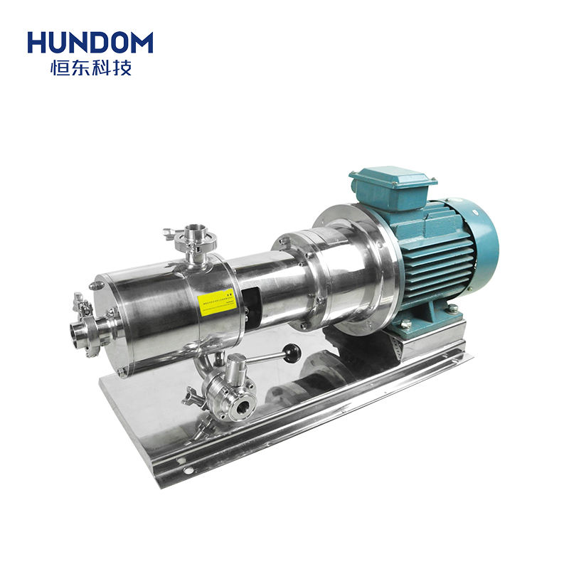 High shear three stage inline homogeneous emulsion pump